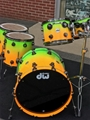 DW  USA  Collector's   Pure Maple SSC Siblime Green to Vibrant Orange  5-piece shell kit
