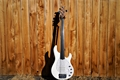 USED Ernie Ball/Music Man Stingray-5H  White Fretless/Unlined 5-String Electric Bass Guitar