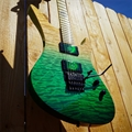 Schecter USA CUSTOM SHOP Synyster Gates FR  Green to Natural Trans Fade/Maple Neck 6-String Electric Guitar
