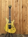 Schecter USA CUSTOM SHOP Synyster Gates FR/S Yellow/Black Stripes 6-String Electric Guitar