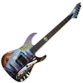 LTD Limited Edition Art Guitars Six Feet Under  Graphic 6-String Electric Guitar