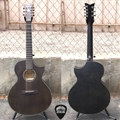 Schecter DIAMOND SERIES Orleans Stage-7 Satin See Thru Black  7-String Acoustic Electric Guitar