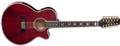 Takamine TSP158C-12 See Thru Red 12-String Acoustic Electric Guitar