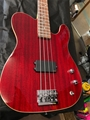 USED Schecter USA Custom Shop Baron Bass Trans Red 4-String Electric Bass Guitar