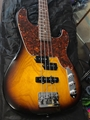 USED Schecter USA Custom Shop Model T  Vintage Burst  4-String Electric Bass Guitar