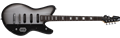 "Schecter    DIAMOND SERIES Robert Smith UltraCure-VI Silver Burst Pearl 30"" Baritone  6-String Electric Guitar 2020"