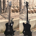 "USED Schecter DIAMOND SERIES Nikki Sixx ""Schecter Sixx"" Satin Black 4-String Electric Bass Guitar"