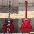 HAGSTROM VIK-L WCT  Viking Wild Cherry Trans. Semi-Hollow Left Handed 6-String Electric Guitar