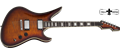 Schecter    DIAMOND SERIES  Avenger Custom Tobacco Sunburst  6-String Electric Guitar