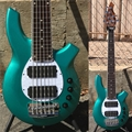 Ernie Ball/Music Man BFR LTD  Bongo 6 HH  Grabber Green 6-String Electric Bass Guitar