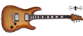 Schecter DIAMOND SERIES C-1 Custom Natural Vintage Burst 6-String Electric Guitar