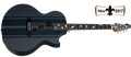 Schecter DIAMOND SERIES DJ Ashba Acoustic Carbon Grey 6-String Acoustic Electric Guitar