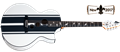 Schecter    DIAMOND SERIES DJ Ashba Acoustic Satin White    6-String Acoustic Electric Guitar