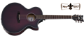 Schecter    DIAMOND SERIES Orleans Stage Vampyre Red Burst Satin   6-String Acoustic Electric Guitar