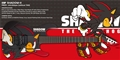 ESP CUSTOM SHOP Shadow The Hedgehog 15th Anniv. Shadow-II  6-String Electric Guitar
