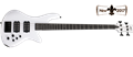 Schecter DIAMOND SERIES Stiletto Stage-4 Gloss White  4-String Electric Bass Guitar 2017