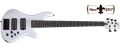 Schecter DIAMOND SERIES Stiletto Stage-5  Gloss White  5-String Electric Bass Guitar 2017