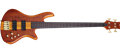 Schecter DIAMOND SERIES Stiletto Studio-4 Honey Satin Natural FRETLESS 4-String Electric Bass Guitar