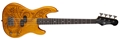 Luna Tattoo 30 Inch Short Scale 4-String Electric Bass Guitar
