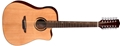 Luna WABI SABI Dread Cutaway 12-String Acoustic Electric Guitar