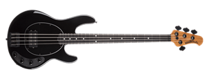 Ernie Ball/Music Man  Stingray 4H Special Jet Black 4-String Electric Bass Guitar