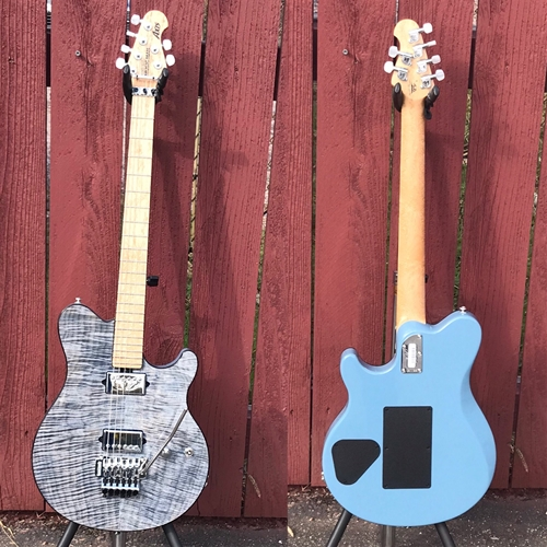 Ernie Ball/Music Man BFR Axis  Steel Blue  40/75 6-String Electric Guitar 2018