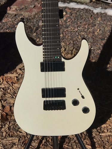 Schecter DIAMOND SERIES PROTOTYPE Soulfire White 7-String Electric Guitar