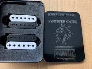 Schecter USA Custom Shop SYNYSTER GATES SIGNATURE Black & White Open Coil Pickup Set