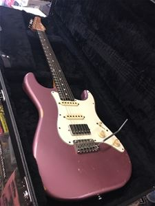 Schecter USA CUSTOM SHOP Traditional Wembley-II HSS Burgundy Mist Heavy Aged Nitro 6-String Electric Guitar 2019