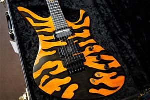 Schecter USA CUSTOM SHOP Synyster Gates FR/S Trans Amber/Black Tiger  6-String Electric Guitar
