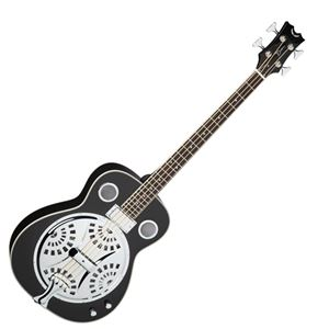 Dean Resonator Classic Black Acoustic Electric 4-String Bass Guitar