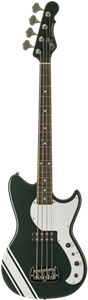 G&L USA  Fallout Bass 30 inch Short Scale British Racing Green 4-String Electric Bass Guitar