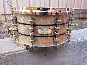 pearl masterworks 7x14 rf 20 ply snare drum w gold hardware. Black Bedroom Furniture Sets. Home Design Ideas