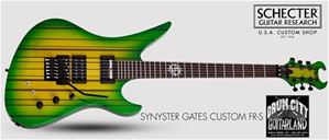 Schecter USA CUSTOM SHOP Synyster Gates FR/S USA Signature Trans Green Burst   6-String Electric Guitar 2019