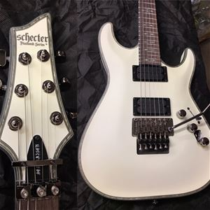 Schecter DIAMOND SERIES PROTOTYPE Hellraiser C-1FR Passive White Satin 6-String Electric Guitar