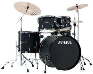 Tama   IP52NBCBOB   Blacked Out Black Complete 5-Piece Drum Set