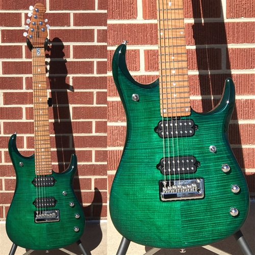 Ernie Ball/Music Man John Petrucci JP15-7  Teal Flame top 7-String Electric Guitar