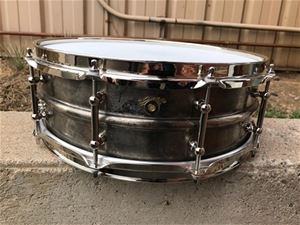 "USED Joyful Noise Studio Bronze Silver Patina 5"" x 14"" Bronze snare - Serial Number 14"