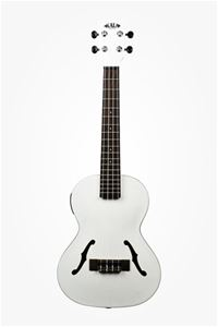KALA KA-JTE/MTW Satin Metallic White  Tenor Archtop Acoustic Electric Ukulele