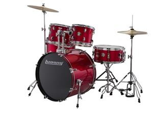Ludwig Accent Fuse Outfit #LC170 - Red - Complete Drum Kit