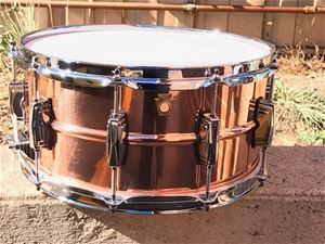 "Ludwig USA LC-662 Copper Phonic Smooth Shell  Imperial Lugs 6 1/2x14"" Snare Drum"