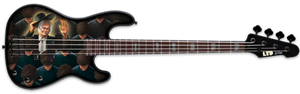 USED LTD Signature Series FB-ATL Among The Living FRANK BELLO/Anthrax  4-String Electric Bass Guitar