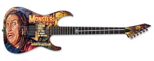 LTD Graphic Series FAMOUS MONSTERS VINCENT PRICE   6-String Electric Guitar