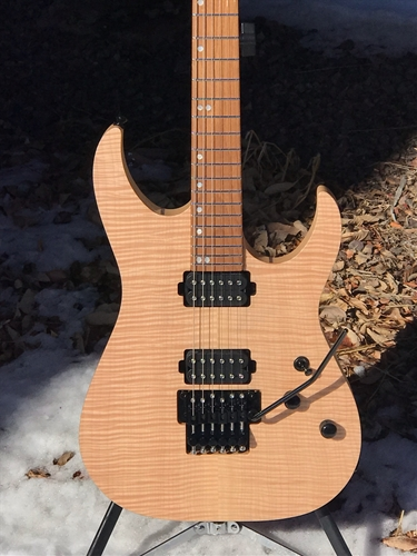 Schecter USA CUSTOM SHOP Sunset 24-6FR Flame Top Natural   6-String Electric Guitar 2019