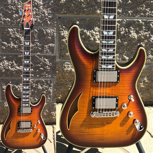 Schecter DIAMOND SERIES PROTOTYPE C S/H-1 Faded  Vintage Sunburst Pearl 6-String Electric Guitar
