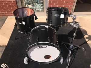 Pearl RFP Reference Pure  Series Flat Black w/Black hardware 3-piece Shell Pack