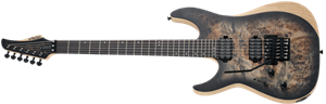 Schecter DIAMOND SERIES Reaper-6 FR Satin Charcoal Burst Left Handed 6-String Electric Guitar 2019
