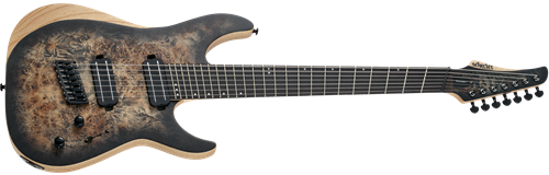 Schecter DIAMOND SERIES Reaper-7 Multiscale Satin Charcoal Burst 7-String Electric Guitar 2019