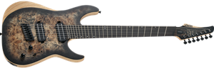 Schecter DIAMOND SERIES Reaper-7 Multiscale Satin Charcoal Burst 7-String Electric Guitar