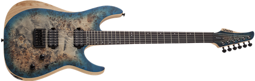 Schecter DIAMOND SERIES Reaper-6 Satin Sky Burst 6-String Electric Guitar 2019